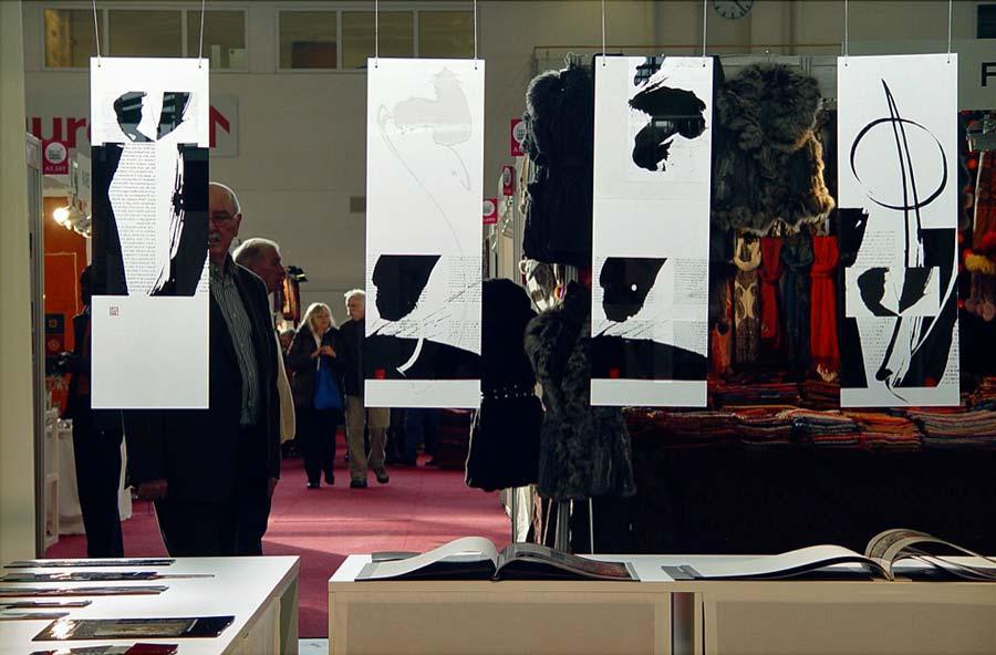 Kalligrafie Bilder - Wendezeit - Messestand