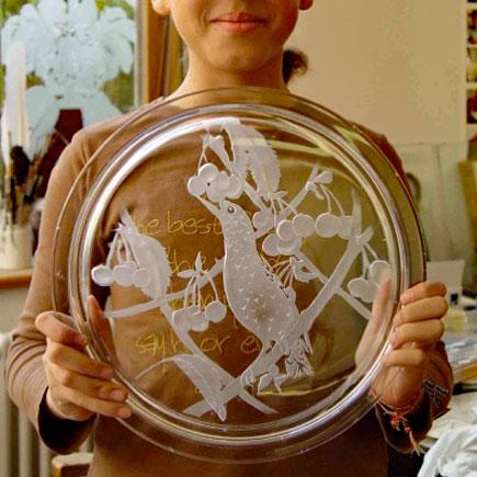 Sperner Glas Workshops für Kinder Glasteller