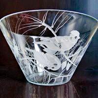 salatschuessel vogel sperner glas