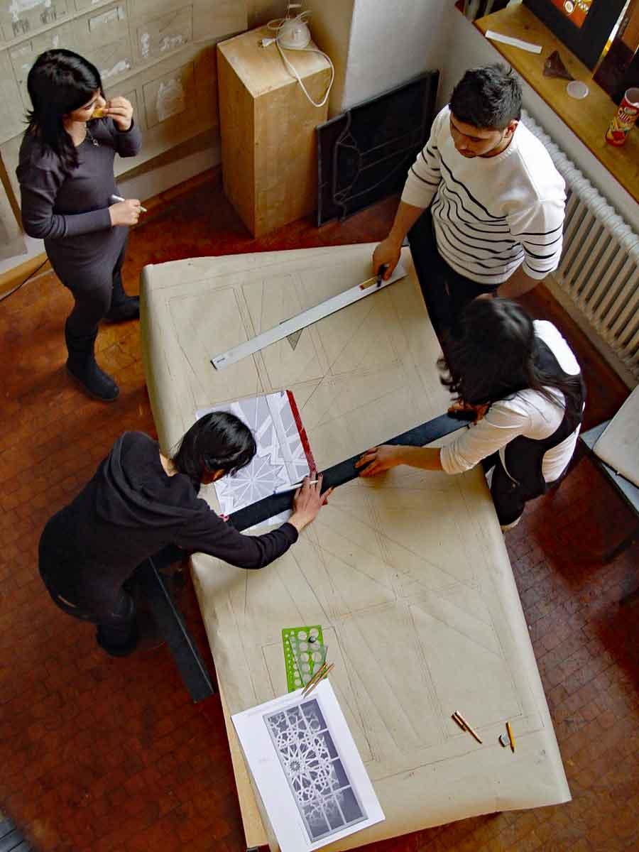 Schulprojekte mit Glasgestaltung - Mittelschule an der Wörthstr - Eva Sperner