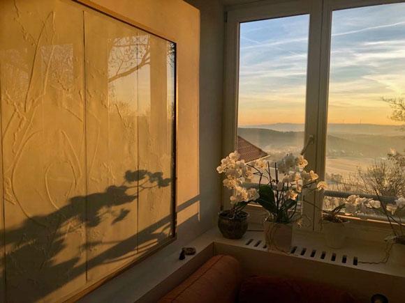 sperner glas fenster sunrise
